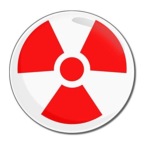 Red Nuclear Symbol - Miroir compact rond de 55 mm