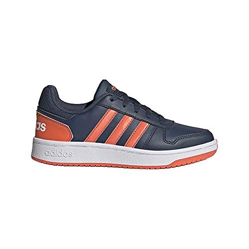adidas Hoops 2.0 K, Zapatillas de Baloncesto, AZMATR/NARAUT/FTWBLA, 35.5 EU