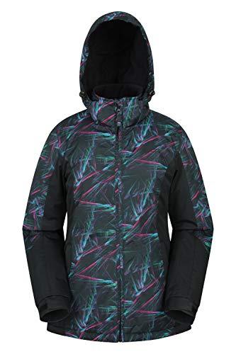 Mountain Warehouse Dawn Womens Ski Jacket - Ladies Winter Snowboarding Jacket Black 10