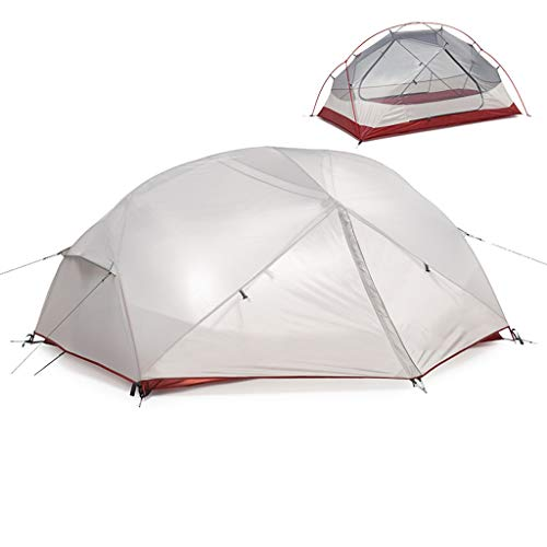 Tents Camping Tents 2-3 Person,with 2 Large Door,Double Layer Family Tent,Easy Set Up,Portable with Carry Bag,for 3 Seasons Outdoor Tent (Size : 2 person)