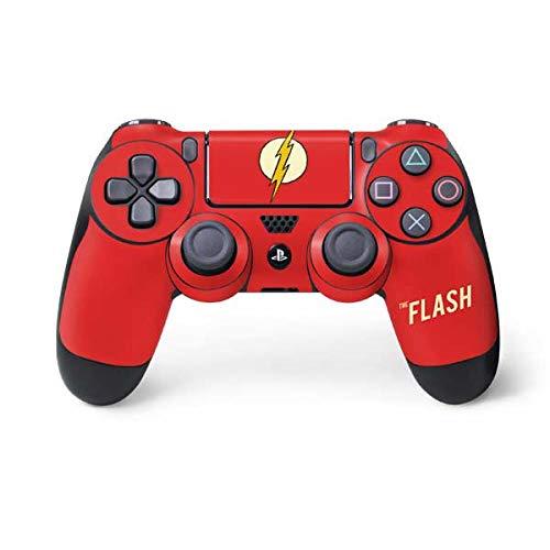 Skinit Decal Gaming Skin for PS4 Controller - Officially Licensed Warner Bros Flash Emblem Design