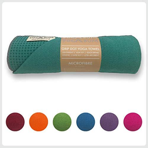 Yogabum Antiscivolo Asciugamano Tappetino Yoga Premium (Emerald Green)