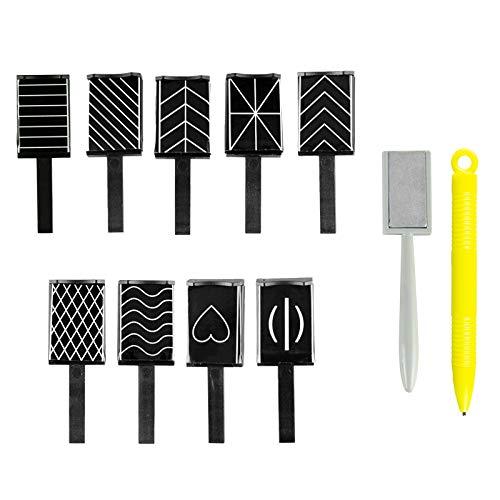 11 Stück Nagel Magnet Nail Art Magnet für Nägel Katzenaugen Nail für 3D Gelpoliermittel Nail Art Manicure Tool
