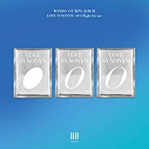 WONHO LOVE SYNONYM #1. RIGHT FOR ME 1st Mini Album VER.3 CD+Photo Book+Card+Pre-Order+TRACKING CODE K-POP SEALED