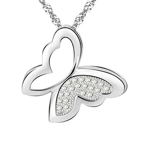 Butterfly - Dream Flutters Sterling Silver Pendant Necklace