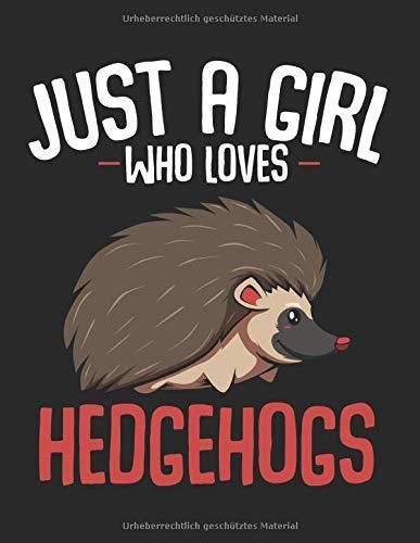 Just A Girl Who Loves Hedgehogs Igel Haustier: A4+ Softcover 120 beschreibbare karierte Seiten | 22 x 28 cm (8,5x11 Zoll)