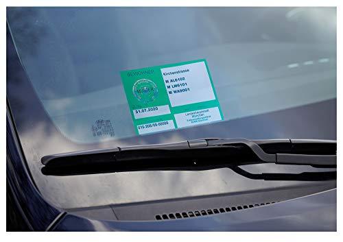 Cardpicker CARDPICKERflex - Parkausweis Halter Folie selbsthaftend Laminierung Windschutzscheibe Parkausweishalter NEUHEIT!
