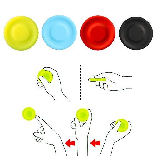 Kiwochy Mini Frisbee Flying Disc 4 Stück Silikon Frisbee Hundespielzeug Silikon Bissfest Frisbee Soft Passt Die SmarteFlugscheibe in Jede Hosentasche für Erwachsene Kinder Sport Spiele & Outdoor