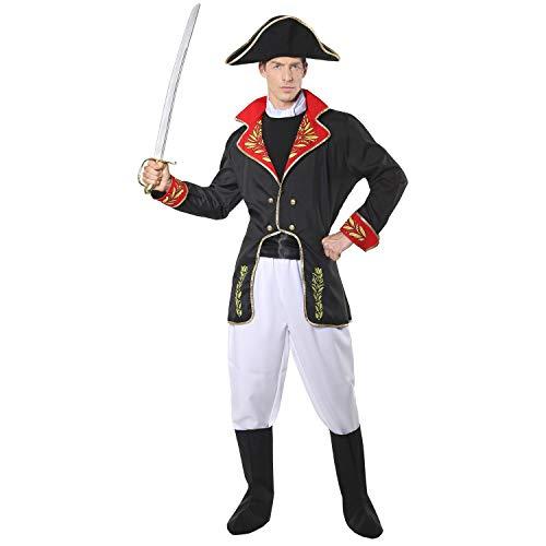 Widmann 02912 - Kostüm Napoleon, Jacke, Hose, Stiefelüberzieher und Hut, Soldat, General, Kaiser, Verkleidung, Karneval, Mottoparty
