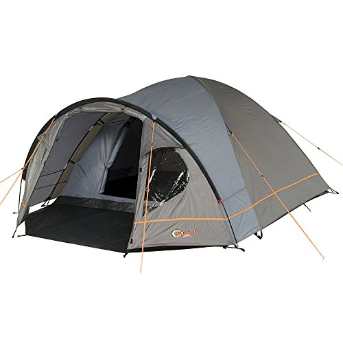 Portal Outdoors Unisex's Zeta Spacious Dome Tent, with Fibreglass Poles, Porch and Triple Ventilation, Sleeps up to 4, Green, 4 Person