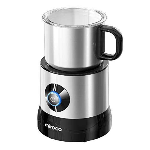 Miroco Milk Frother for Coffee, Dishwasher Safe, 720ml Large Capacity, All Stainless Steel Milk Frothing Pitcher, Auto Cold Hot Milk Steamer, Electric Foam Maker and Warmer for Cappuccino, Latte, 120V