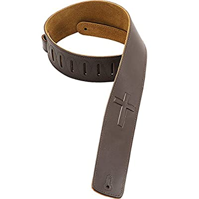 Christian Cross Leather Guitar Strap