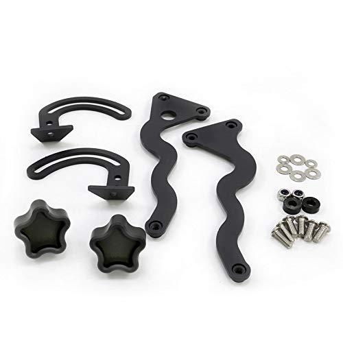 Modanature ornamentali per moto R1200GS Adventure 13-19 Supporto parabrezza parabrezza rafforzare staffa kit adatto per BMW GS1200 R 1200 GS LC/ADV 2014-2019 (colore : Balck)