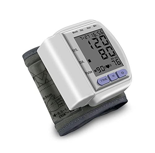 SMSOM Monitor de presión Arterial-muñeca automática Máquina de presión Arterial Kit de Manguito con Pantalla Grande, presión Arterial a Domicilio y medición de frecuencia cardíaca