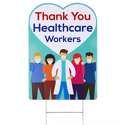 Hohomark Thank You Healthcare Workers Yard Sign with Metal Stake,12