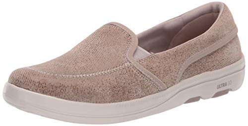 Skechers Women's ON-The-GO BLISS-16526 Loafer Flat, Dark Taupe, 11 M US