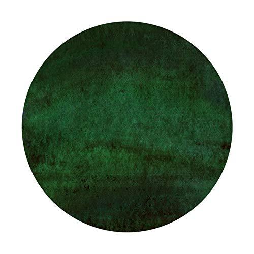 Siunwdiy Alfombra Verde Oscuro Redonda Tradicional, Salón Dormitorio Mesa de Café Silla Decoración Nórdica para el Hogar Alfombra para el Suelo,Espesor 7MM,A,Diameter100