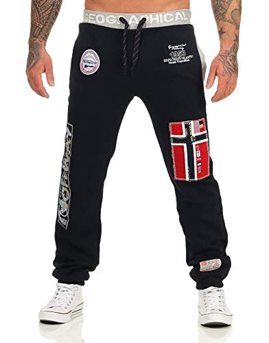 Geographical Norway Herren Jogginghose Myer Jogg-Pants mit Patches Black S