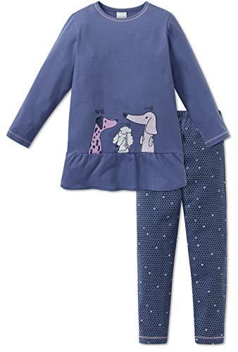 Schiesser Mädchen Schlafanzug lang 163342, blau, 98