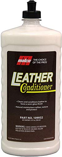 Malco Leather Conditioner for Cars - Cleans and Conditions Automotive Leather Seats & Surfaces - Natural Moisturizers Soften, Restore and Protect Leather Interiors / 32 Oz (109932)