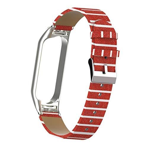 Para Xiaomi MiBand5 Smartwrist Bracelet Para Xiaomi mi5 Correa MiBand 5 Reloj Reemplazo de cuero Muñeca + Estuche con marco de metal