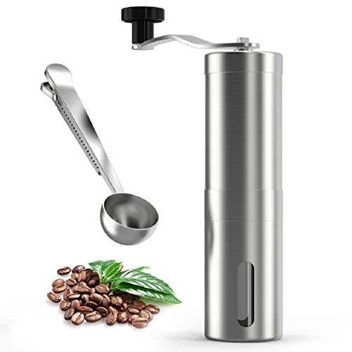 Mchoice Quick Manual Coffee Grinder,coffee grinders burr (Stainless Steel)