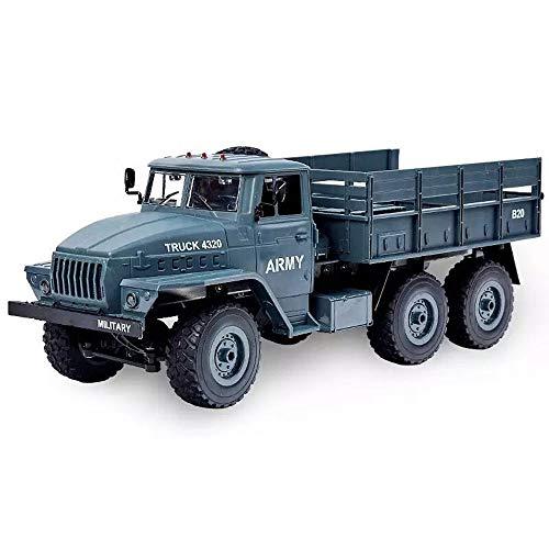 Xolye Télécommande Camion Lourd 2-8 Enfants d'un an Electric Toy Car Puissant 01h12 Simulation Camion Adapter à Divers véhicules d'ingénierie de Terrain (Color : Bleu, Taille : 2 Batteries)