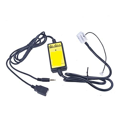 ZIMEI MEIKAI VW Coche CD Adaptador MP3 Interfaz de Audio CD DE USB AUX Cambiador Apto para VW R100 RCD100 RCD200 RCD300 RCD500 RNS300