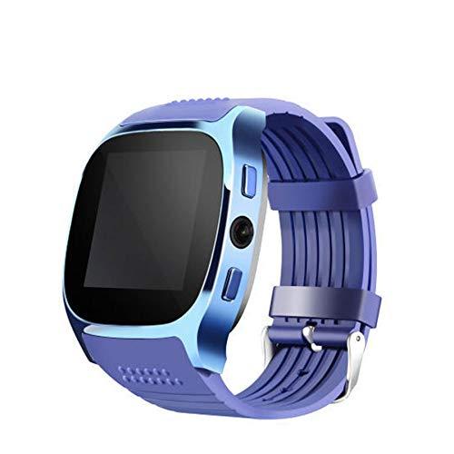 Nrpfell T8 Smart Card Phone Watch Sports Wear Reloj con CáMara para Ni?Os Soporte SIM TF Card Call-Azul