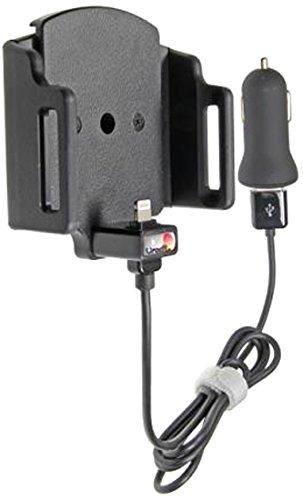 Brodit 7320285216662 521666 Verstelbare Apparaathouder met Auto-USB-oplader voor Apple iPhone 6, 7, 8, X, Xs, Zwart