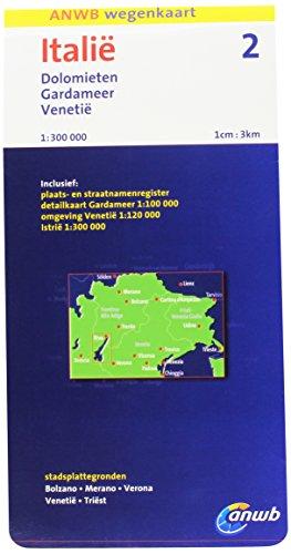Italië 2: Dolomieten, Gardameer, Venetië schaal 1:300.000