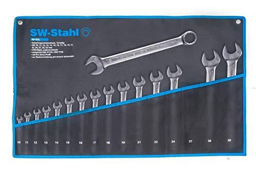 SW-Stahl 00163l Jeu de clés mixtes à fourche
