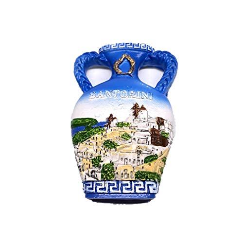 Magneti per FrigoriferoCalamite da Frigo Viaggio Fridge Magnet Sticker Souvenir del Grecia Santorini Vaso Casa Bianco