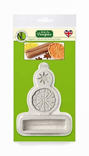 Wintergewürze Zuckerpaste Silikonform von Nicholas Lodge für Kuchen Dekorieren, Basteln, Cupcakes, Sugarcraft und Süßigkeiten, Lebensmittelecht, UK gemacht