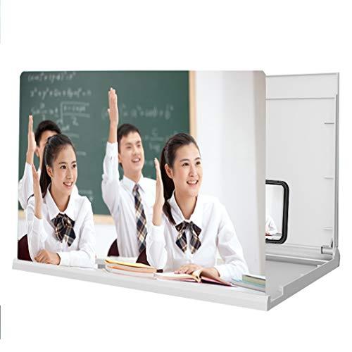 Portátil Magnifier de pantalla de teléfono móvil 16in, proyector de amplificador de teléfono móvil de alta definición 6D, soporte plegable, adecuado para estudiantes Lecciones en línea, teléfono intel