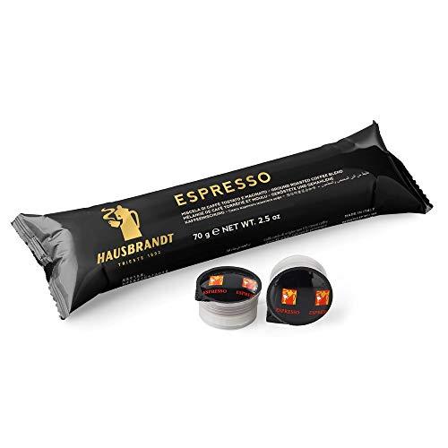 200 Capsule Hausbrandt caffè Espresso. Miscela di caffè tostato e macinato confezionato in capsule monodose