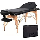 Medi Gear – Luxurious Wood Portable Massage Table - with Linen & Arm Rest
