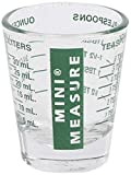 Kolder Mini Measure Heavy Glass, 20-Incremental Measurements Multi-Purpose Liquid and Dry Measuring Shot Glass, Green