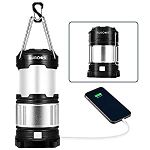 SUBOOS LED Camping Lantern Rechargeable