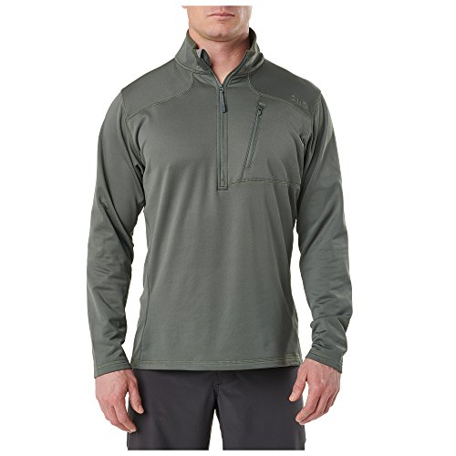 5.11 Tactical Recon - Forro Polar con Media Cremallera para Hombre, Color Verde OD (Talla S)