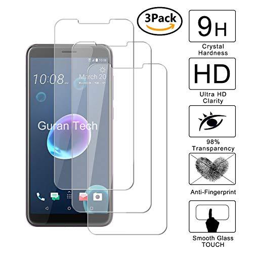Guran [3 Unidades] Protector de Pantalla Vidrio Cristal Templado para HTC Desire...