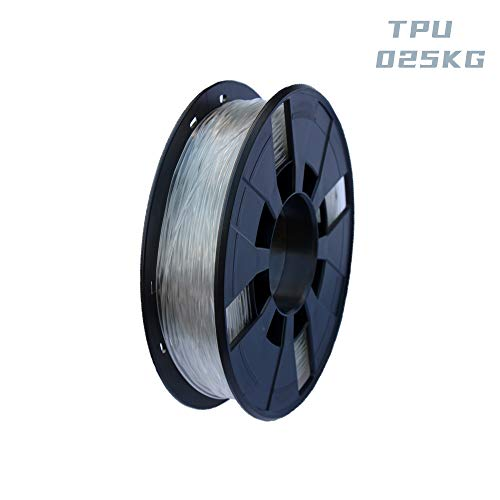 LEE FUNG 1.75mm TPU 3D Printing Filament, Dimensional Accuracy +/- 0.05mm, 0.55 LBS (0.25KG) Spool,1.75 mm 3D Filament for Most 3D Printer & 3D Printing Pen (Transparent)