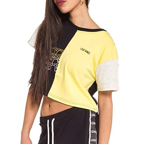 GRIMEY Camiseta Chica MANGUSTA V8 Half Crop Top SS18 Black-M