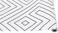 ウォールステッカーステッカー壁紙 1M / 3Mビニール自己粘着ピールと壁のベッドルームリビングルームお紙装飾用スティックペーパー現代幾何学の壁紙 (Color : Geometric Pattern, Dimensions : 1mx45cm)