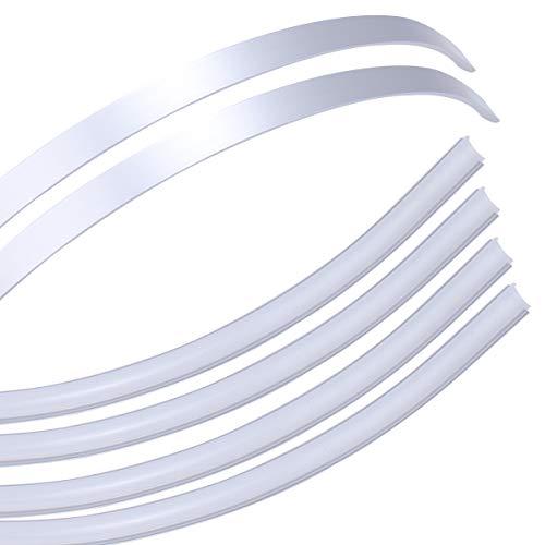 Muzata Flexible LED Channel with Milky White Cover Lens,Bendable Aluminum Profile Housing Diffuser for Strip Tape Light,6PACK 1M/3.3FT Anodized Flush Corner Mount U106 1M WW,LB1