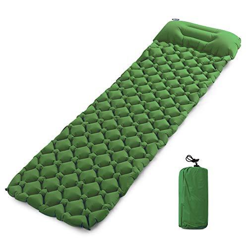 YLIKD Tapis de Camping Tapis de Camping Gonflable avec Matelas d'oreiller pour Le Camping en Plein air Randonnée Backpackin Travel