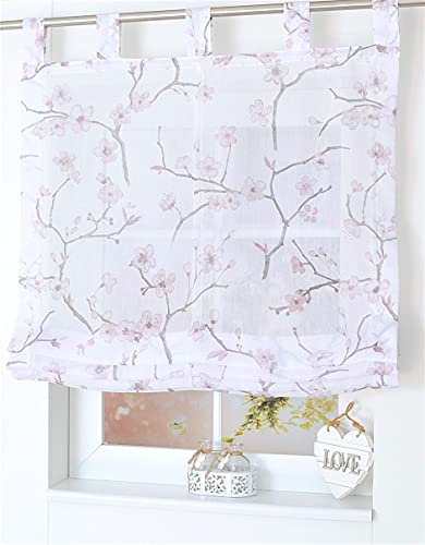 Kutti Aiko Estor Plegable con Trabillas Blanco Rosa 100 x 145 cm