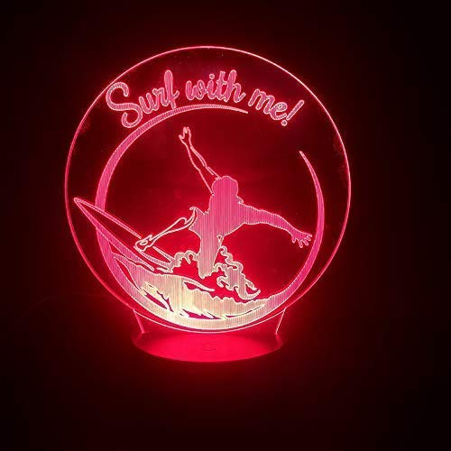 Únase A Mi Para Sports Surfing 3D Touch Light Multicolor Sensor, Puede Hacer Una Luz Usb Personal Decorativa Luz Led Luz Nocturna