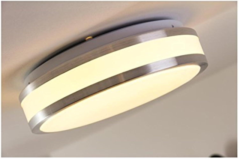 FuweiEncore Aluminium gebürstete LED-Deckenleuchte Sora rund 880 Lumen 12 Watt 3000 k warmwei - IP44-Bad geeignet (Farbe   -, Gre   -)