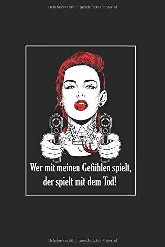 """Lustiges Mafia Frau Outfit   Mafiabraut Boss: Liniertes Notizbuch & Journal   6\""""x 9\"""" 15x23cm Seitengröße   Mit 120 Seiten für deine Notizen"""